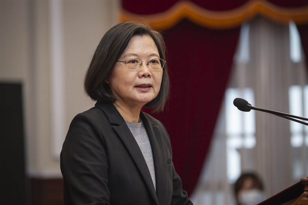 President Tsai Ing-wen. CNA file photo courtesy of the Presidential Office