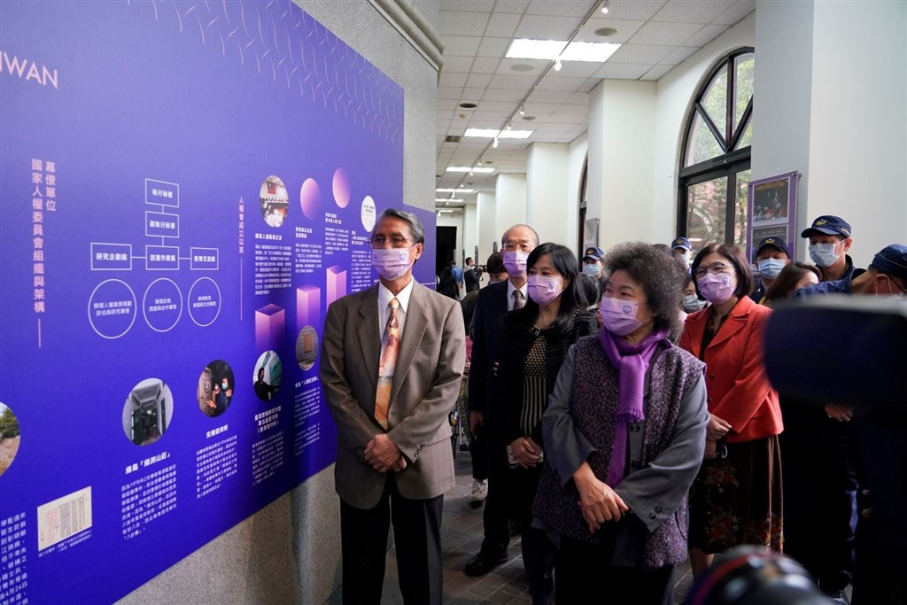 Control Yuan President Chen Chu (front, in purple scarf). Photo courtesy of the Control Yuan