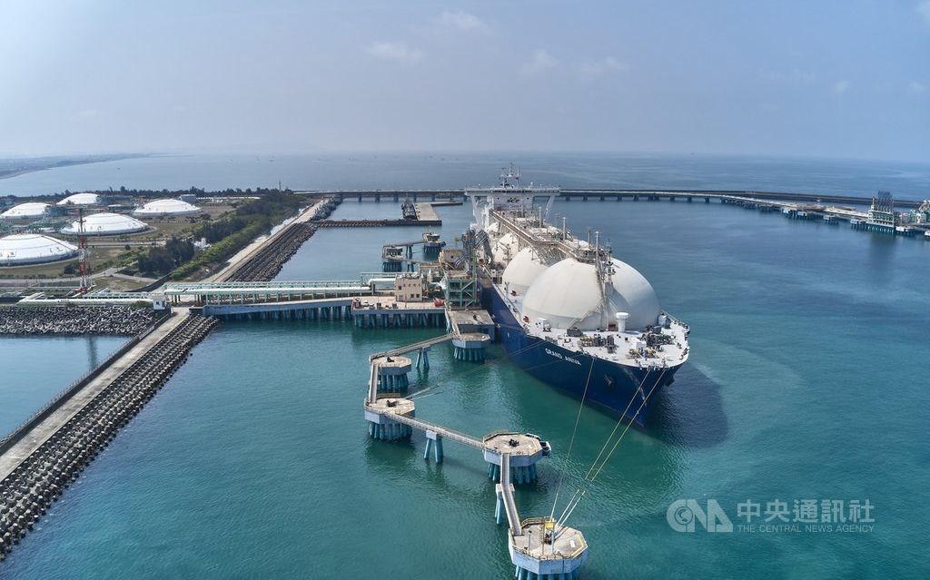 A CPC-run liquefied natural gas plant in Tainan. CNA file photo courtesy of the CPC