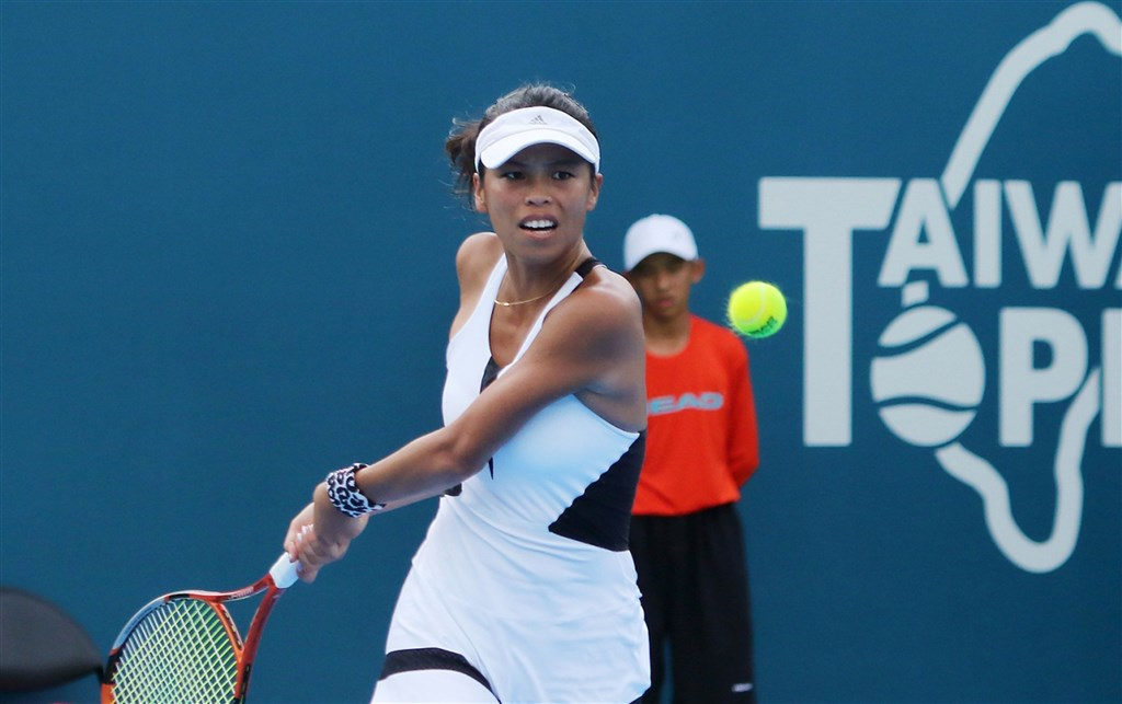 Tennis player Hsieh Su-wei. File photo courtesy of WTA Taiwan Open