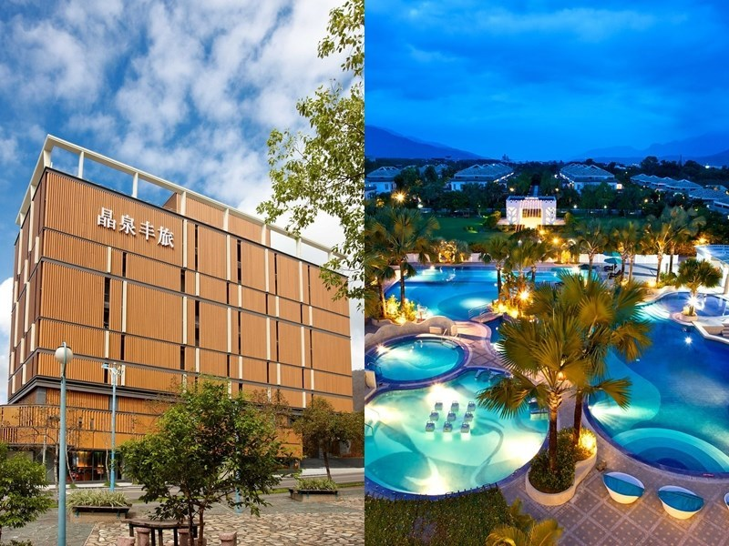 Wellspring by Silks in Yilan County (left) and Papago International Resort in Taitung County (right) / images taken from: facebook.com/wellspringsilks; facebook.com/PAPAGO.RESORT)
