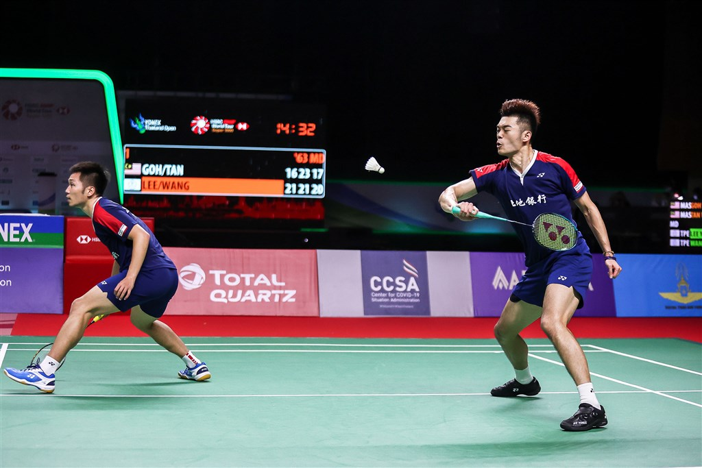 Lee Yang (left) and Wang Chi-lin. Photo courtesy of the Badminton Association of Thailand