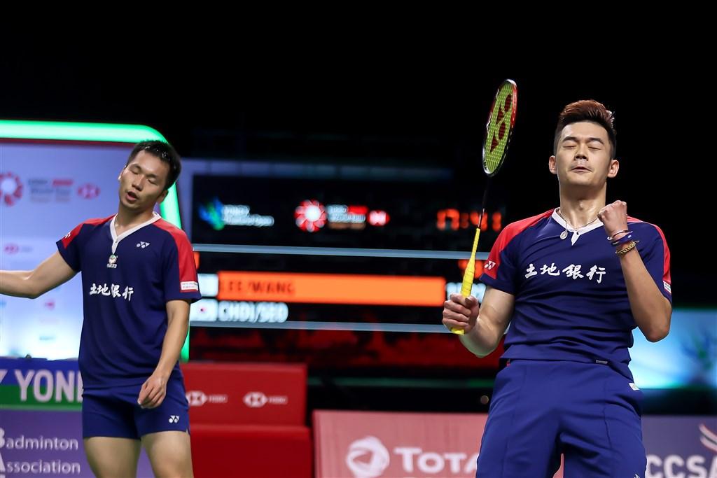Lee Yang (left) and Wang Chi-lin. Photo courtesy of the Badminton Association of Thailand Jan. 16, 2021