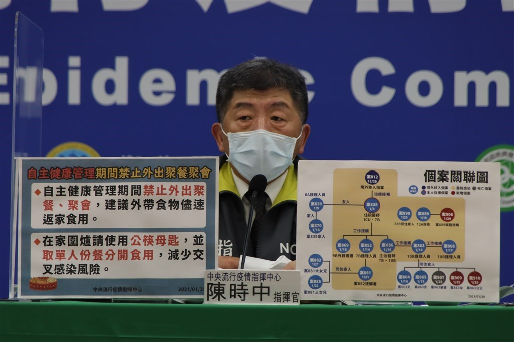 Health and Welfare Minister Chen Shih-chung, who heads the CECC. Photo courtesy of CECC.