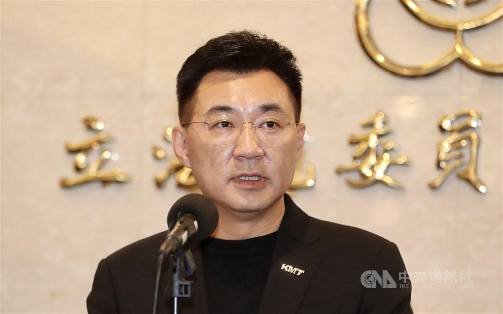 KMT Chairman Johnny Chiang. CNA photo Feb. 20, 2021