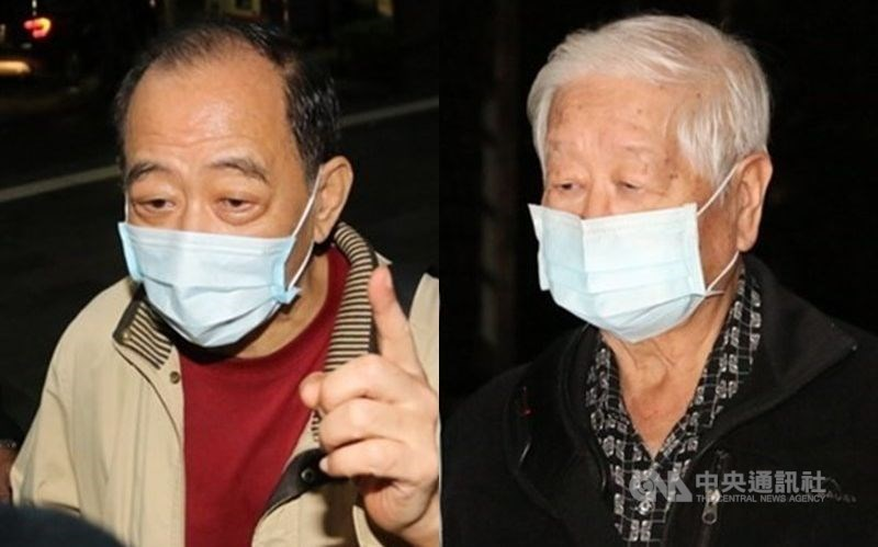 Yueh Chih-chung (right) and Chang Chao-jan. CNA file photo