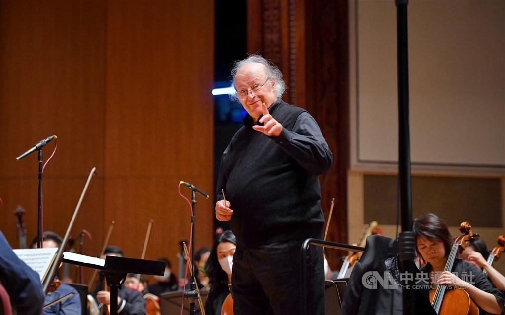 Taipei Symphony Orchestra Principal Conductor Eliahu Inbal. CNA photo Feb. 23, 2021