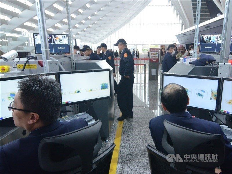 Enhanced border control measures against African swine fever (ASF) at Taiwan Taoyuan International Airport. CNA file photo