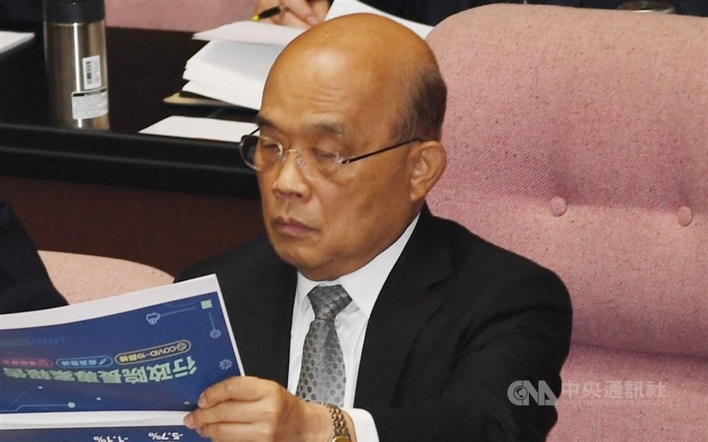 Premier Su Tseng-chang. CNA photo Feb. 26, 2021