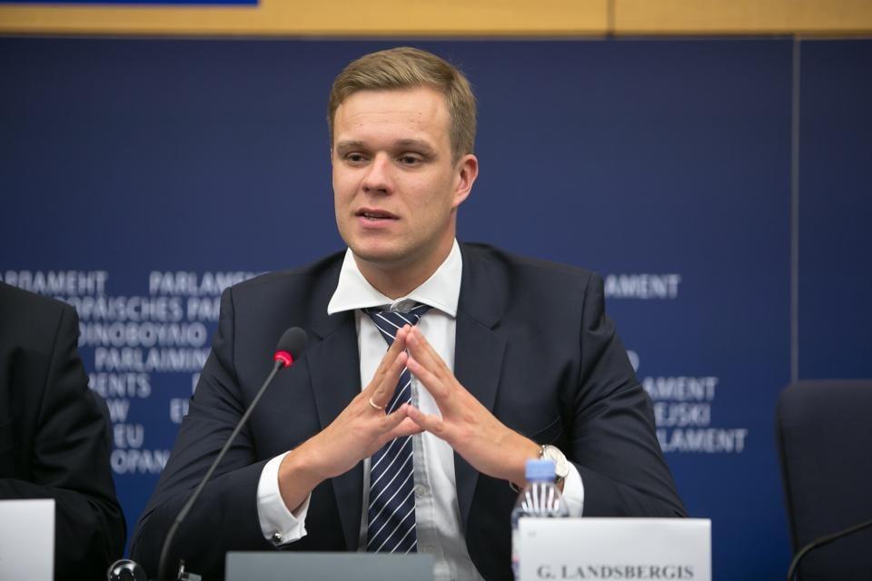 Lithuanian Foreign Minister Gabrielius Landsberg. Photo from facebook.com/landsbergis