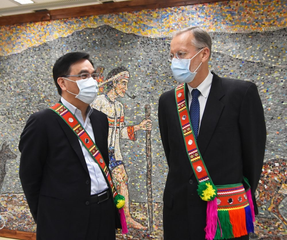 CIP Minister Icyang Parod (left) and Director Brent Christensen. Photo courtesy of the CIP