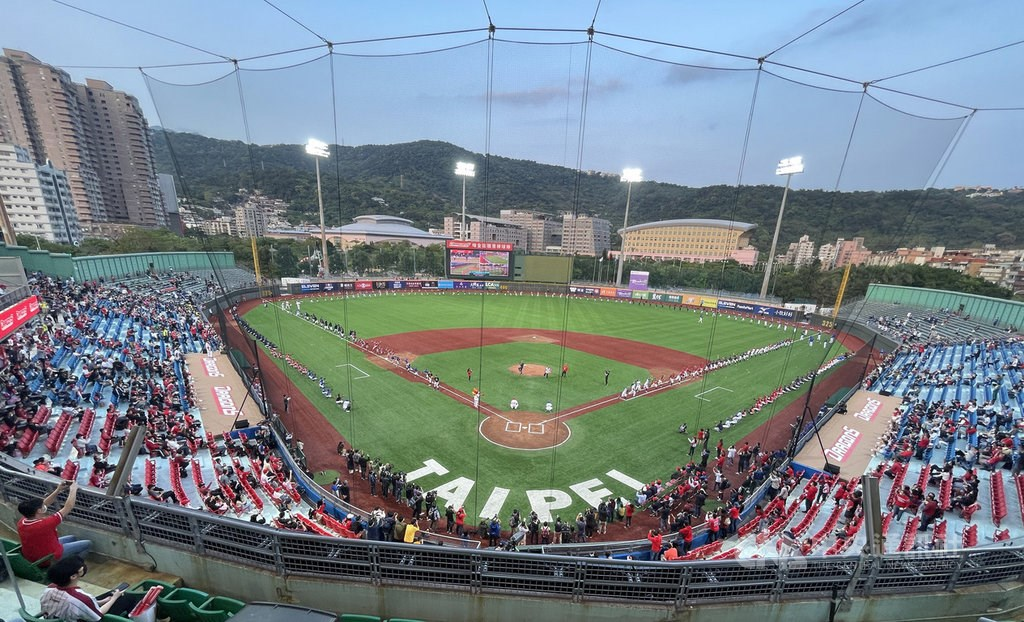 Tianmu Baseball Stadium. CNA photo March 26, 2021