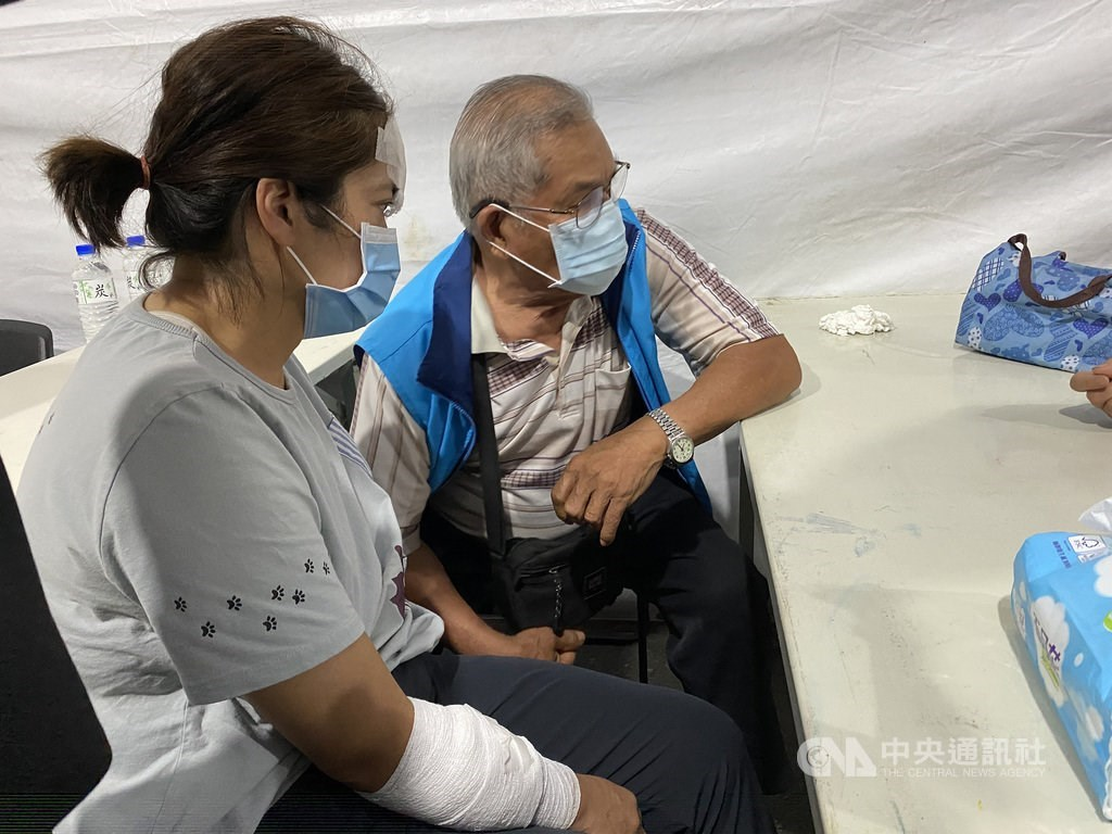 Chung Hui-mei (left) is the only person in a family of four who survived Friday