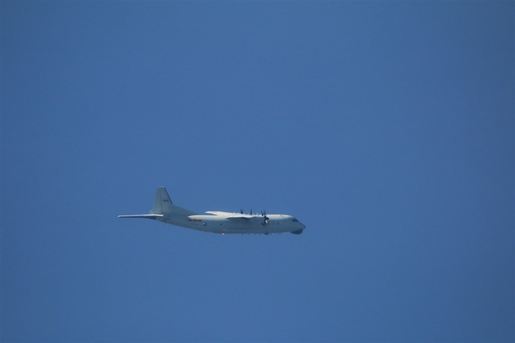 A Chinese military Y-8 aircraft. CNA file photo courtesy of the Ministry of National Defense