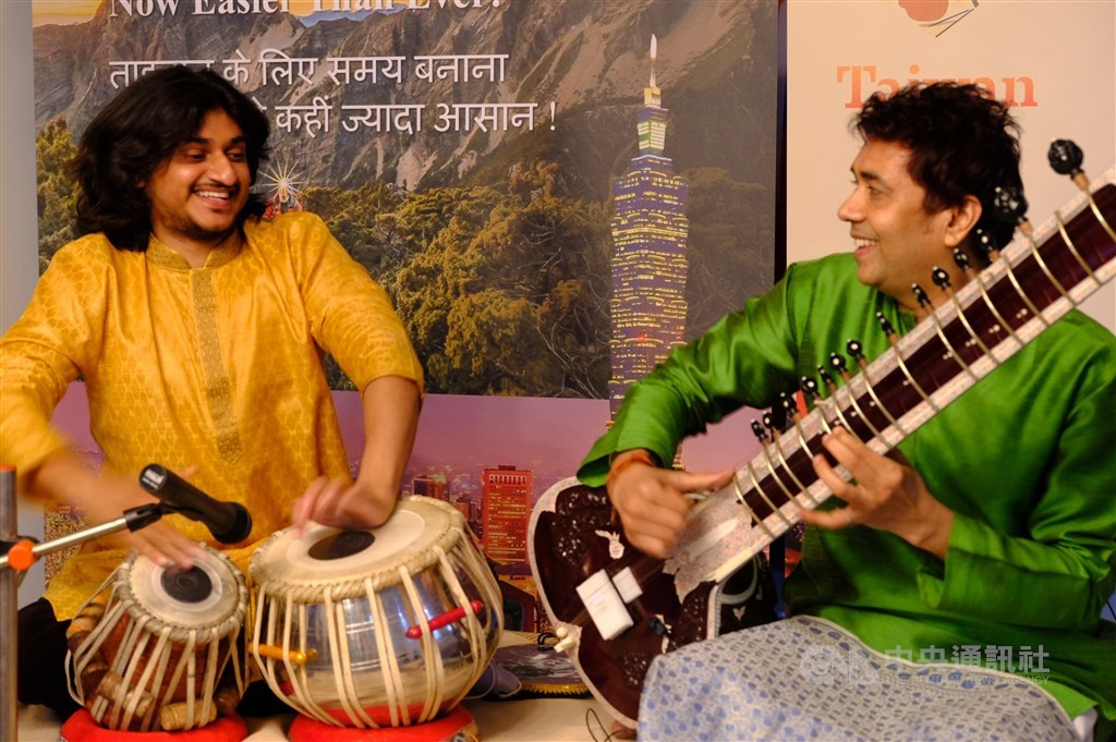 Indian musician perform at an event organized by Taiwan