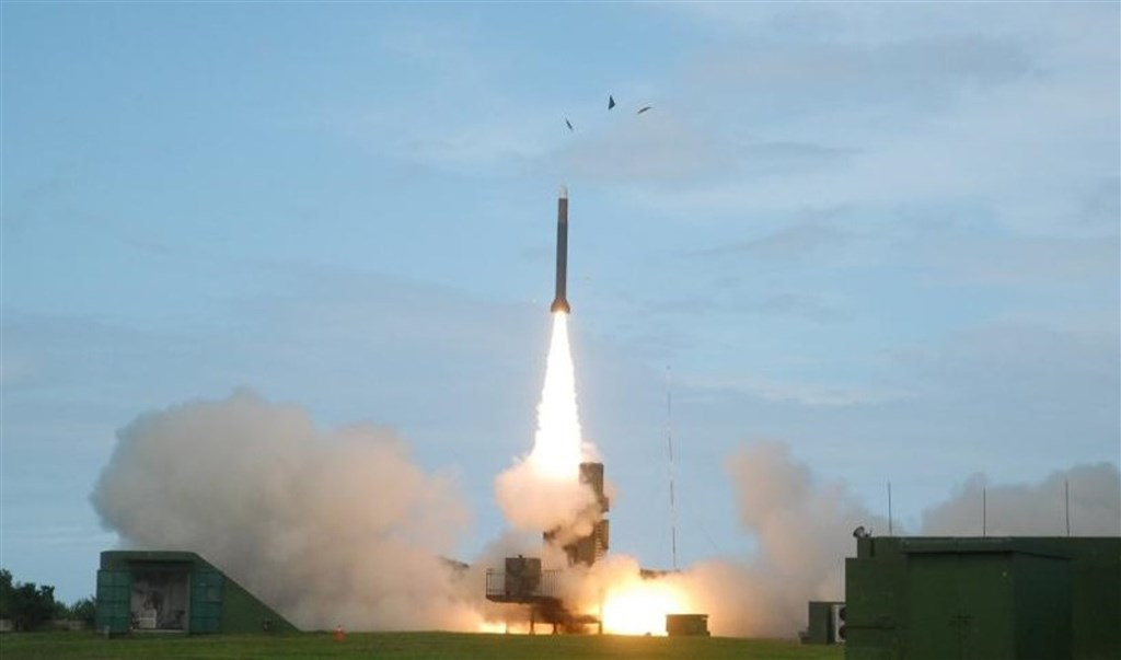 A missile test in the past. Photo courtesy of the National Chung-Shan Institute of Science and Technology
