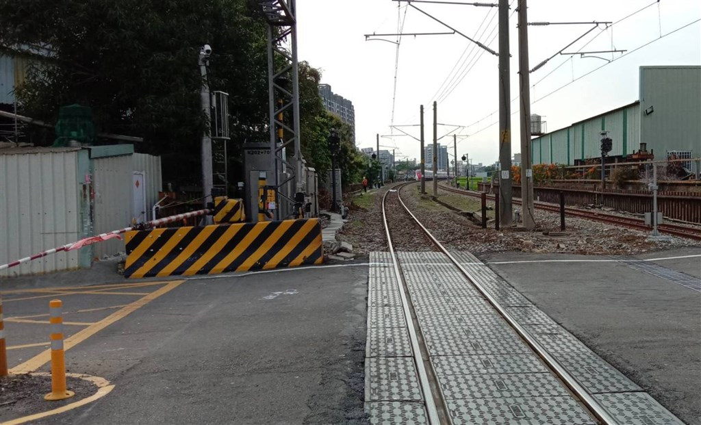 The scene of the incident. Photo courtesy of the Taiwan Railways Administration