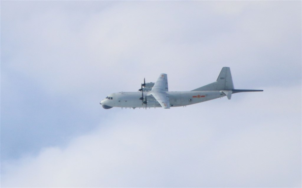 A PLA Y-8 plane. photo courtesy of the Ministry of National Defense