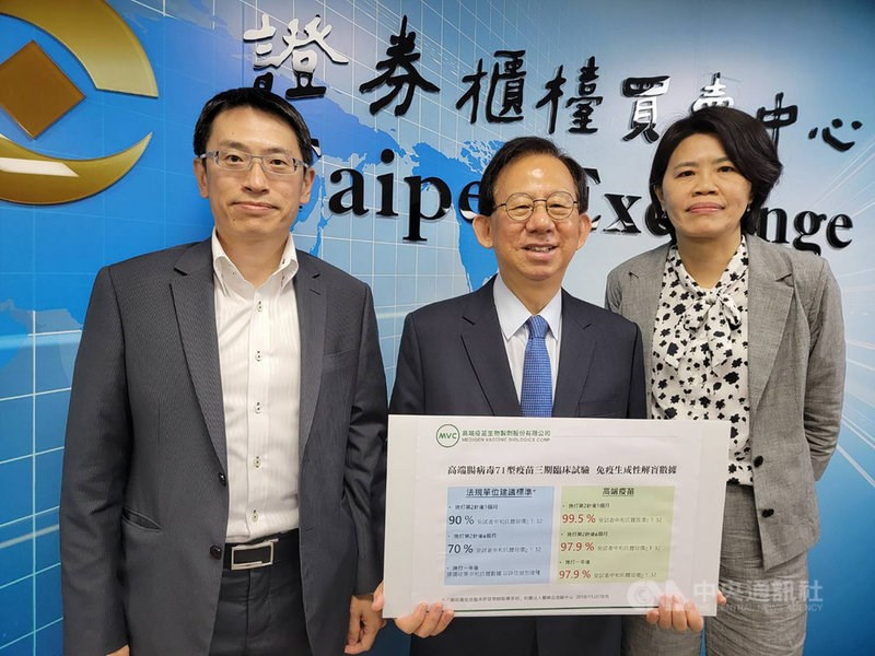 MVC CEO Charles Chen (center). CNA photo April 11, 2021
