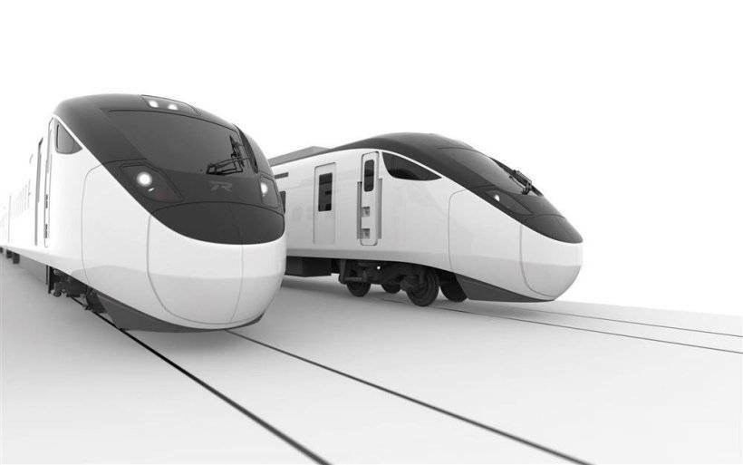 A rendered image shows the design of the new EMU3000 model. Image courtesy of the Taiwan Railways Administration