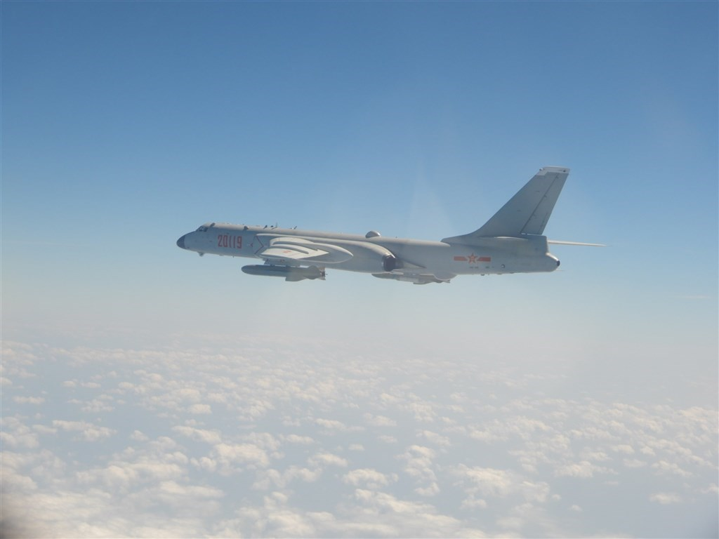 A Chinese H-6K fighter bomber. Photo courtesy of the Ministry of National Defense