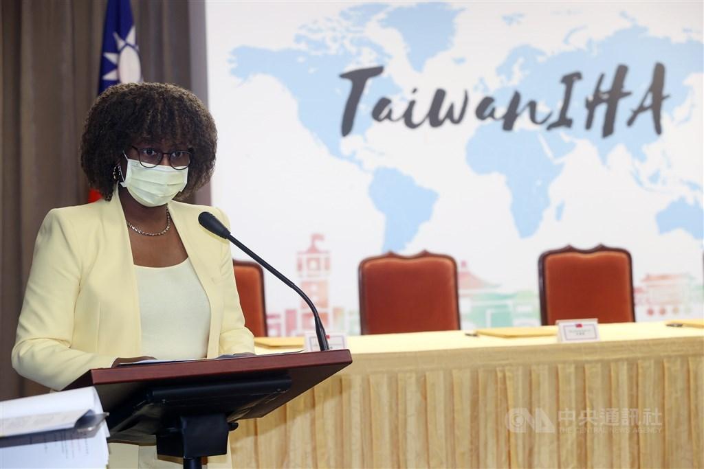 Saint Vincent and the Grenadines Ambassador to Taiwan Andrea Bowman. CNA photo April 13, 2021