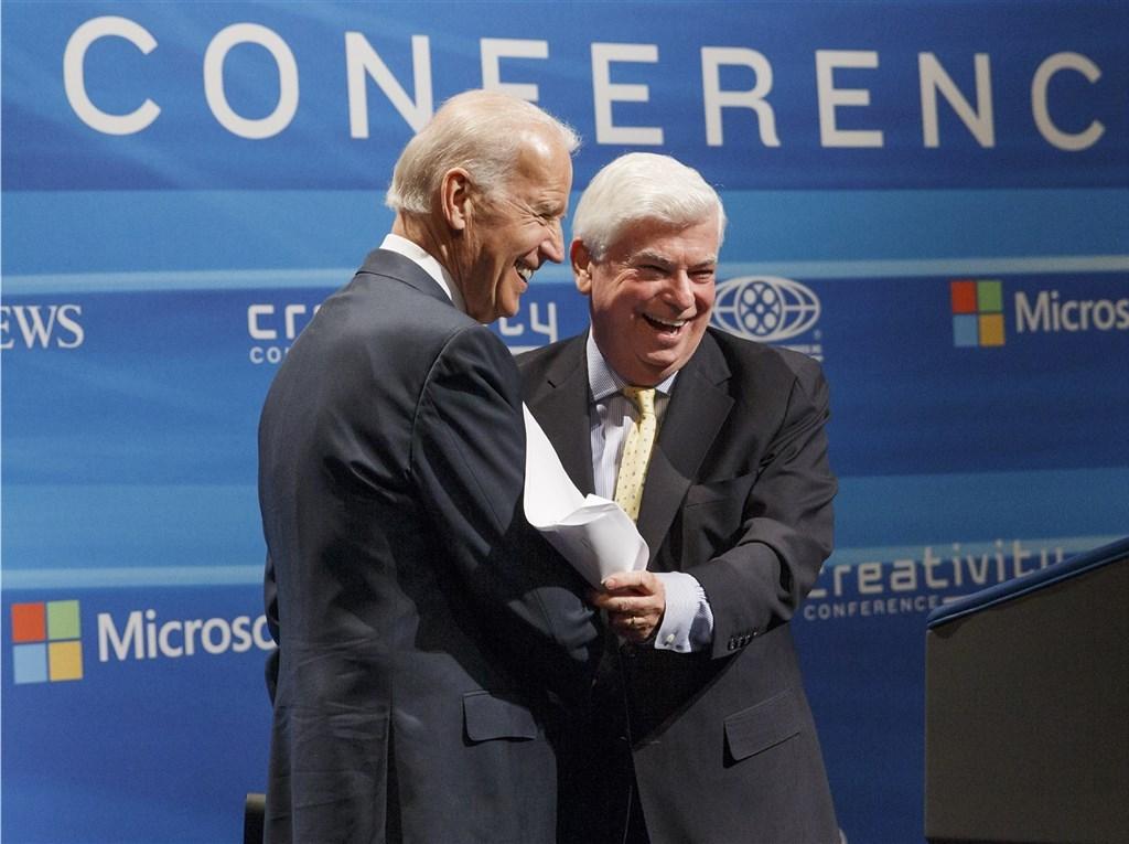 Joe Biden (left) and Chris Dodd. AP photo