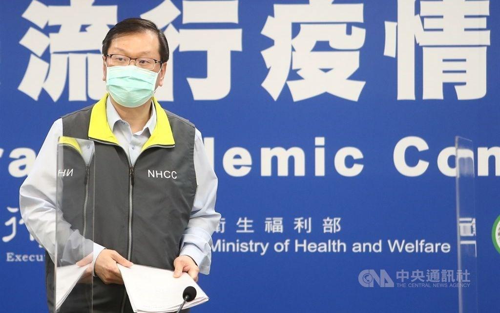 CECC spokesperson Chuang Jen-hsiang. CNA photo April 20, 2021