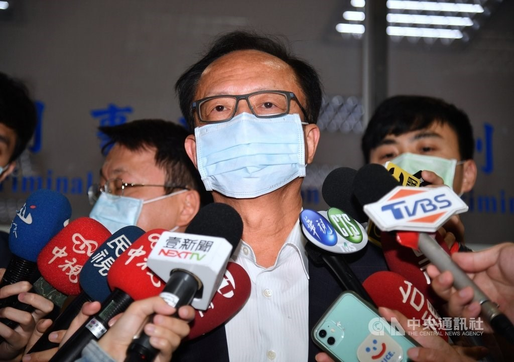Taipei City Police Commissioner Chen Jia-chang at the Taipei District Prosecutors Office on Friday. CNA photo April 30, 2021