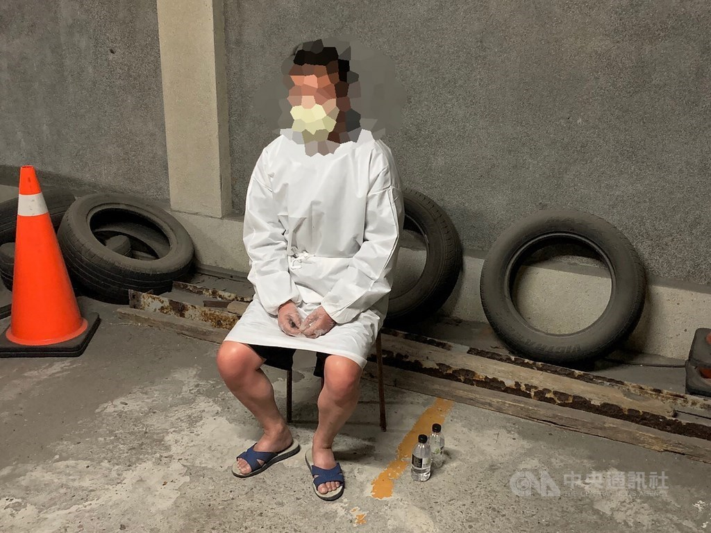The Chinese national surnamed Zhou who entered Taiwan illegally from China on a dinghy. CNA file photo