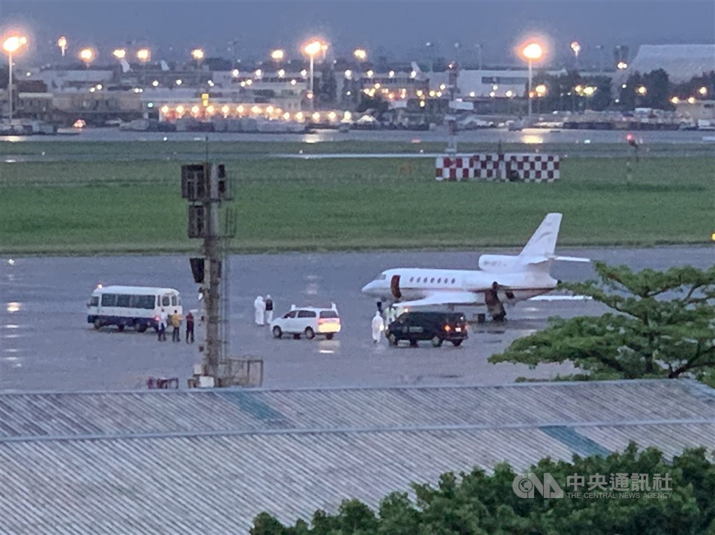 A chartered plane that was recently used to fly back Taiwanese staff at Taiwan