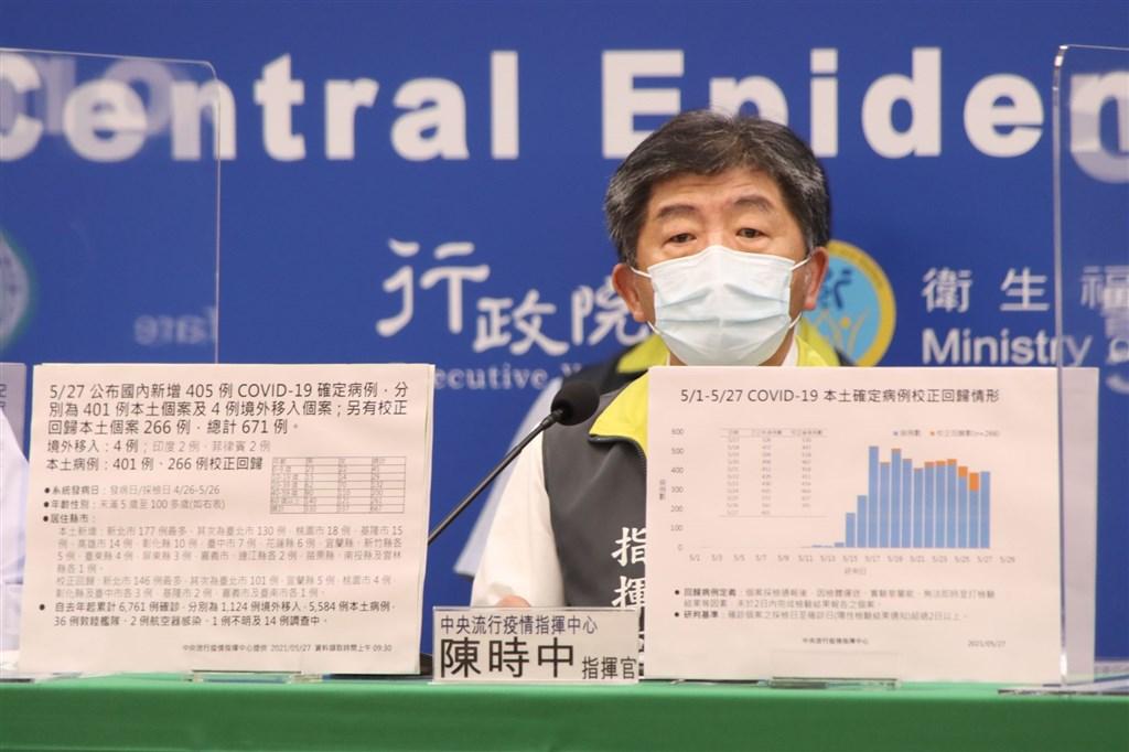 Health Minister Chen Shih-chung hosts Thursday