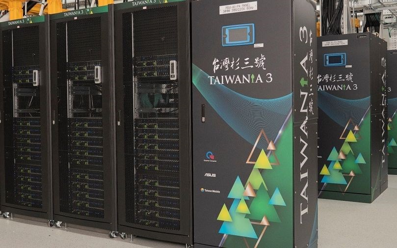 The Taiwania 3 supercomputer. Image from the NARLabs website