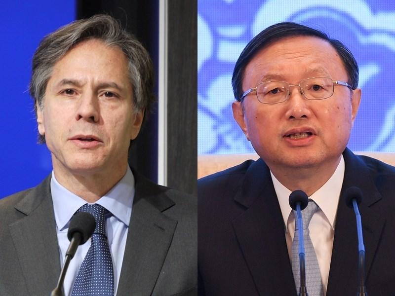 Antony Blinken (left) and Yang Jiechi (right). Photos by CNA and China News Service