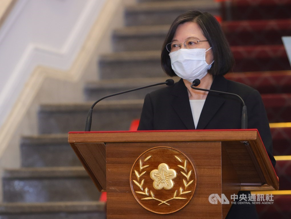 President welcomes G7 mention of Taiwan Strait