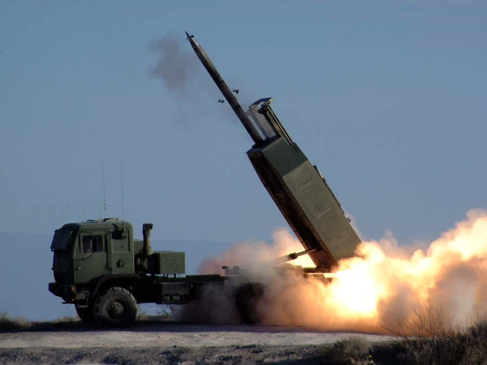 A HIMARS rocket launcher. Image taken from Wikimedia Commons