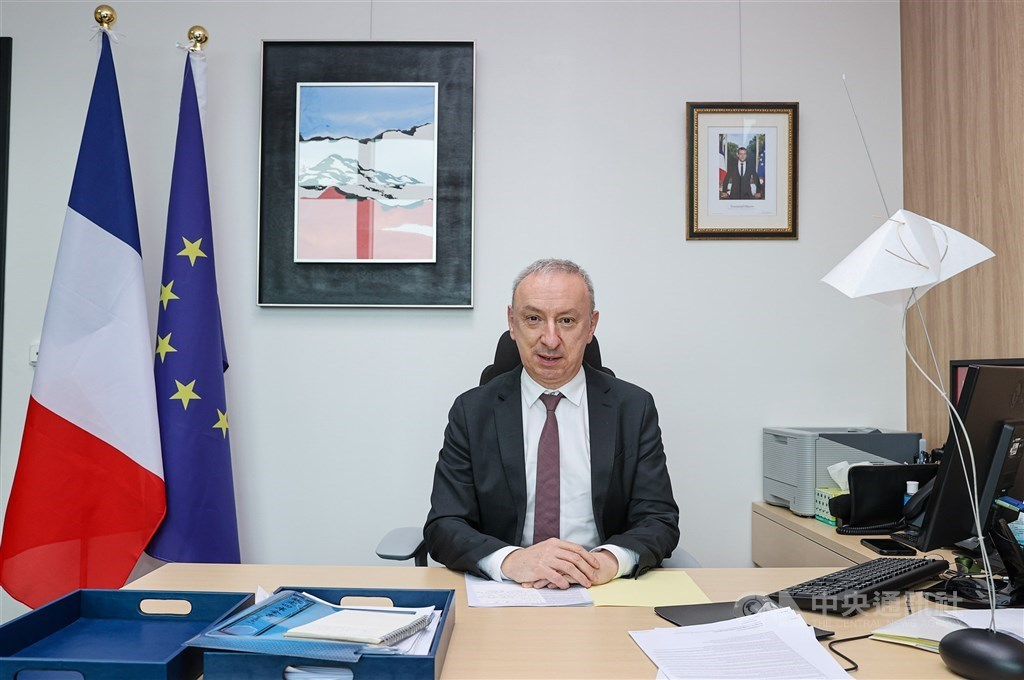 Jean-Francois Casabonne-Masonnave, director of the French Office in Taipei. CNA photo July 14, 2021