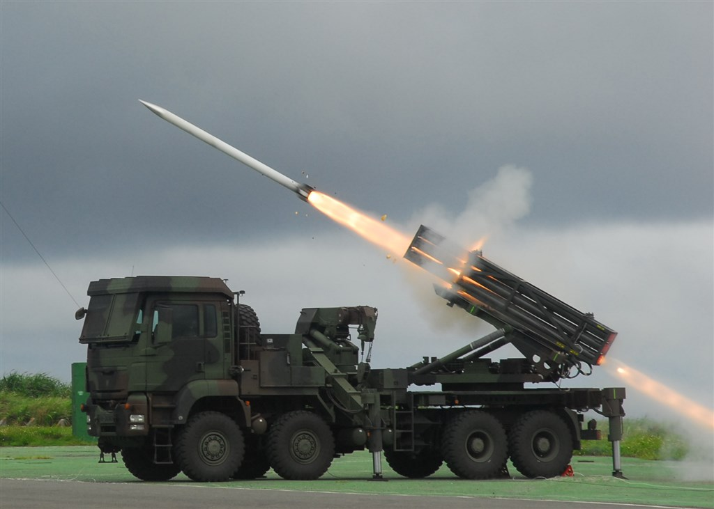A RT2000 multiple launch rocket system. Photo courtesy of the National Chung-Shan Institute of Science and Technology