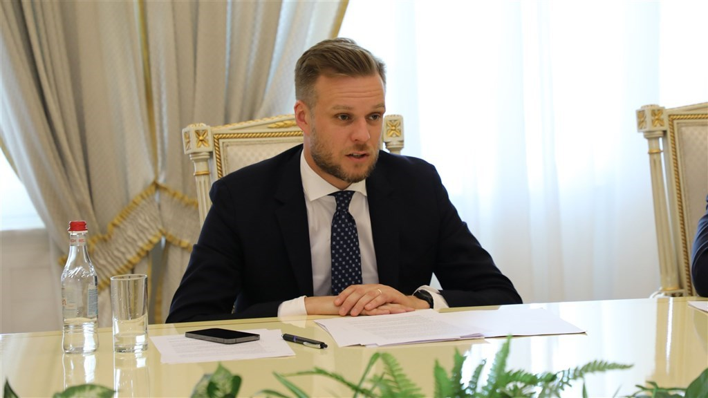 Lithuania's Foreign Minister Gabrielius Landsbergis (Image taken from twitter.com/LithuaniaMFA)
