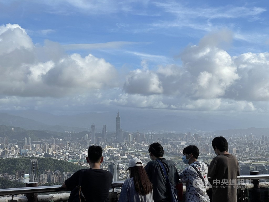 The view of Taipei City from a hiking trail in Neihu. CNA photo July 20, 2021