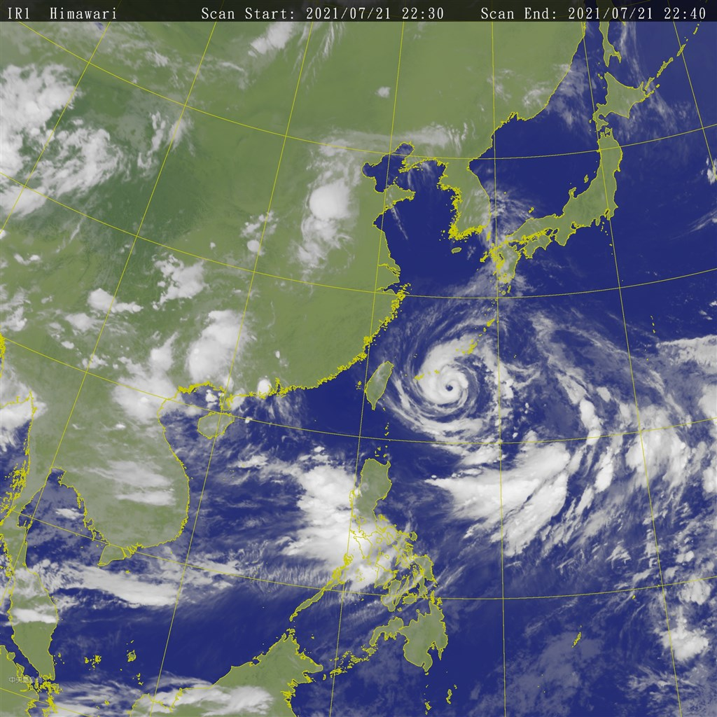Satellite image from the CWB website