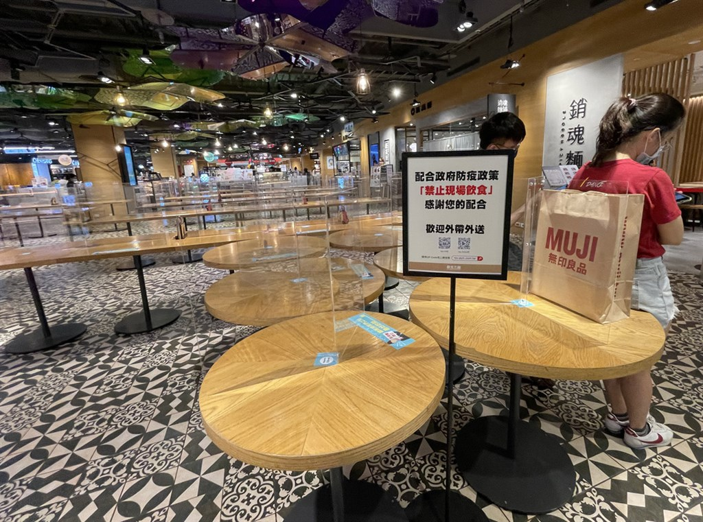A closed food court under the Level 3 COVID-19 alert. CNA file photo