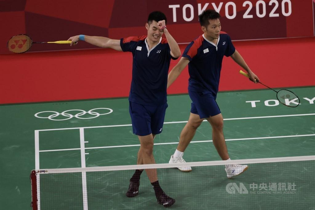 Wang Chi-lin (left) and Lee Yang. CNA photo July 29, 2021