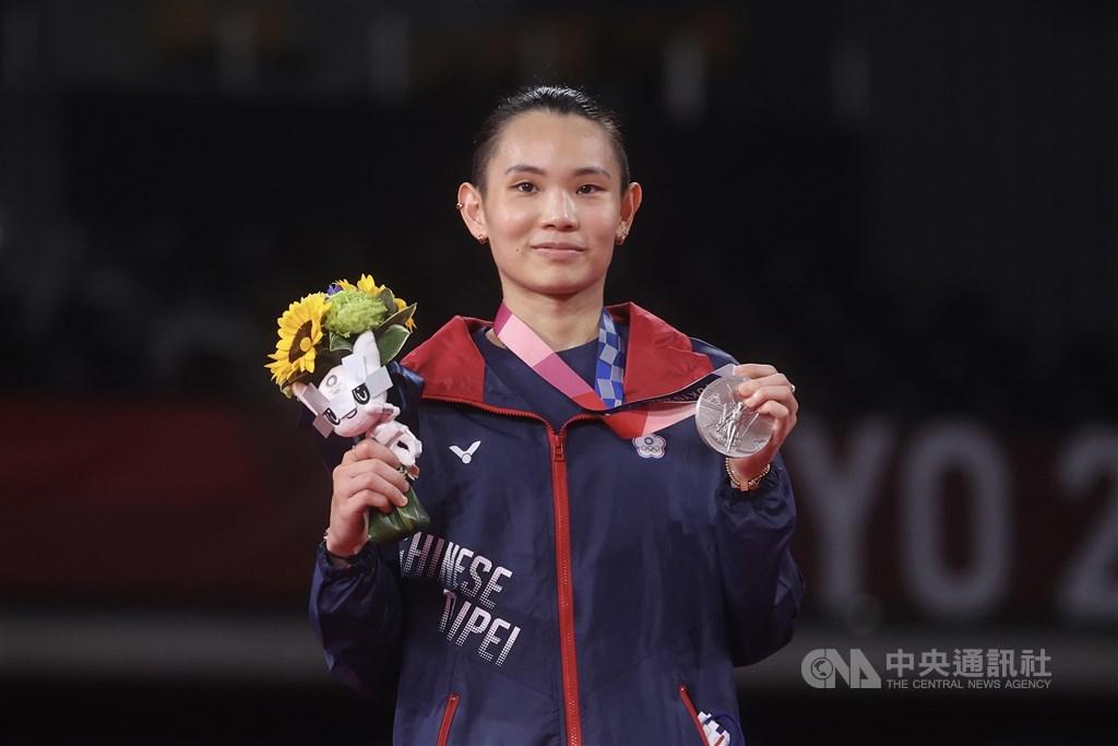 Badminton player Tai Tzu-ying. CNA photo Aug. 1, 2021