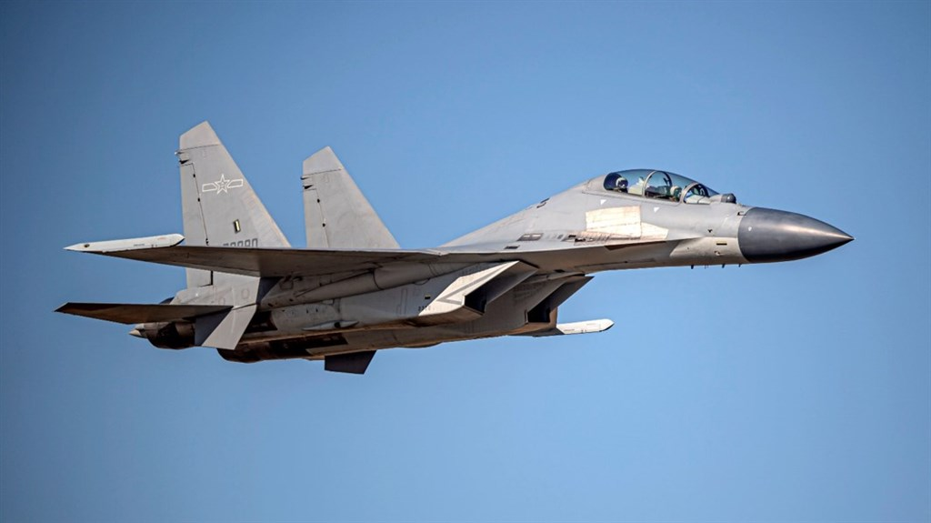 A Chinese J-16 multi-role fighter. Photo courtesy of the Ministry of National Defense