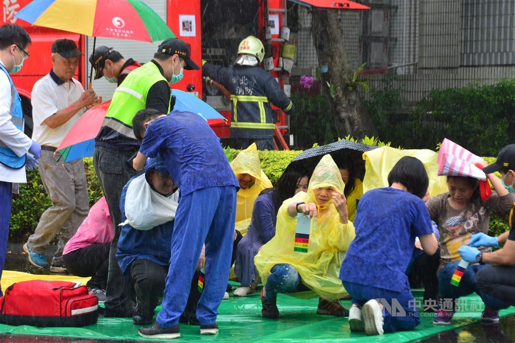 Part of the Wanan drills in 2019, where officials carried out the preparation in the scenario of a large a large number of casualties. CNA file photo