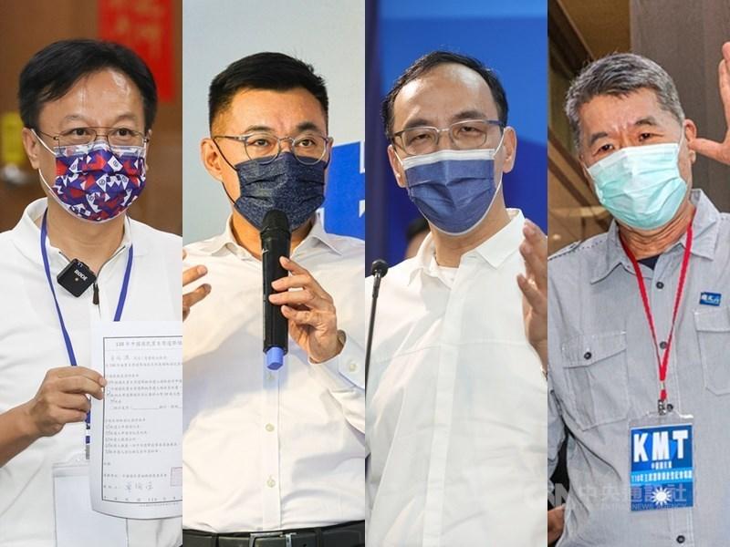 (from left to right) Cho Po-yuan, Johnny Chiang, Eric Chu and Chang Ya-chung