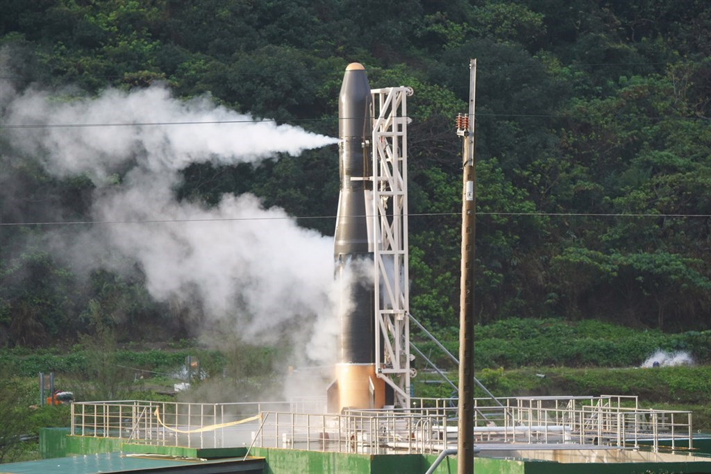 Hapith I at the originally planned launch site of Taitung County. CNA file photo Feb. 13, 2020