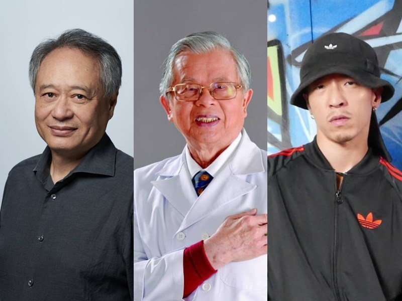 From left: film director Ang Lee, doctor Chen Rong-chi, and breakdancer Chen Bo-jin. Photo courtesy of the General Association of Chinese Culture