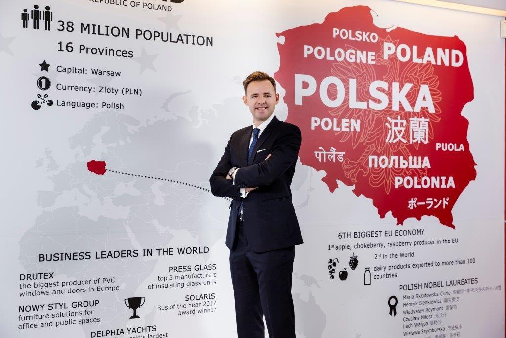 Bartosz Ryś, acting chief of the Polish Office in Taipei. Photo courtesy of the Polish Office in Taipei